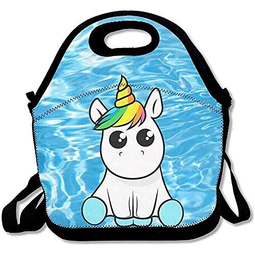 Tas Gourmet Rainbow Unicorn, bedrukt, draagbaar, schoudertas, reistas met ritssluiting