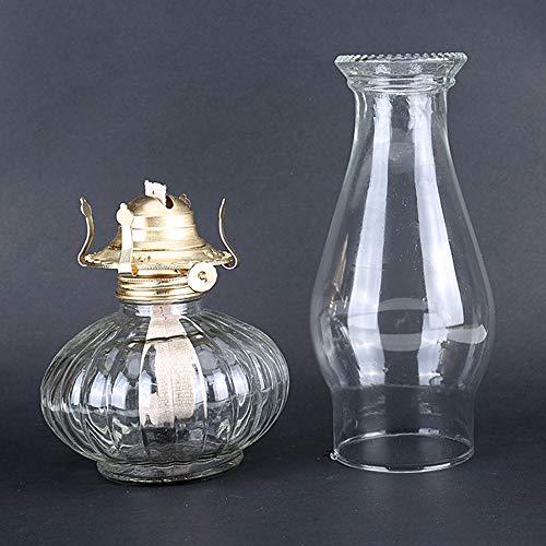 HGNFD Petroleumlampe Retro Sturmlaterne Glas Öllampe Einfache Glas Handwerk-Lampen-Notbeleuchtung Hochzeitsfest (33CM)
