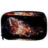 Bolsas de cosméticos TIZORAX Fútbol americano con humo humo Práctico artículo de tocador Bolsa de viaje Organizador Bolsa de maquillaje para mujeres Niñas