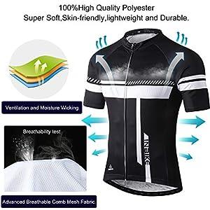 INBIKE Ropa Corta De Ciclismo Verano para Hombre, Culote Maillot Conjunto Traje Culotte con 3D Almohadilla De Gel para Bicicleta MTB Ciclista Bici(Blanco,XL)