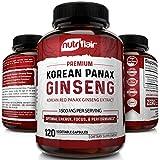 NutriFlair Korean Red Panax Ginseng 1500mg - 120 Vegan Capsules - High Strength Ginseng Root Ginsenosides...