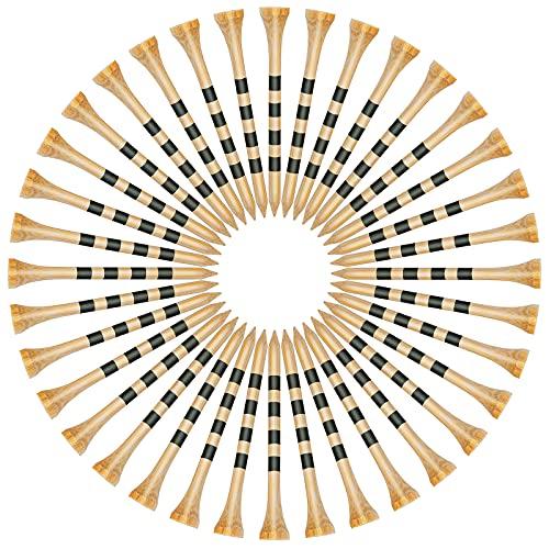 SAPLIZE Golf-Tees, langlebige Bambus-Tees, 150 Stück (8,9 cm erhältlich), reduziert Reibung und seitliches Drehen, haltbarer und stabiler Golf-Bambus-Tees