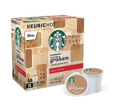 Keurig Coffee Pods K-Cups 16 / 18 / 22 / 24 Count Capsules ALL BRANDS / FLAVORS (16 Pods Starbucks - Toasted Graham)