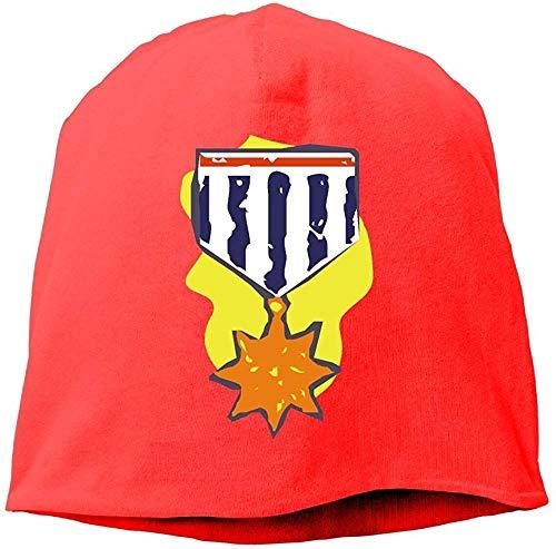 Mode Effen kleur Star Medal Coltrui Cap Voor Unisex Rood