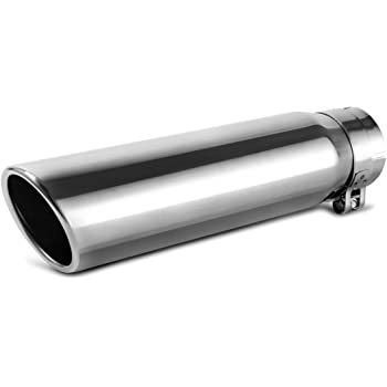 3 Inch Inlet Black Exhaust Tip 3 x 4 x 12 Universal Bolt On Stainless Steel Diesel Exhaust Tailpipe Tip