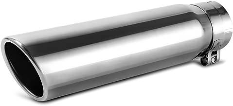 AUTOSAVER88 2.5 Inch Inlet Chrome Exhaust Tip, 2.5