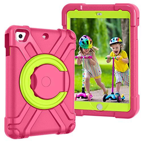 Tablet PC Bolsas Bandolera Cubierta de tabletas para niños para iPad Mini1 / 2/3, con soporte de mango plegable, soporte giratorio, cubierta protectora a prueba de golpes resistente a prueba de impues