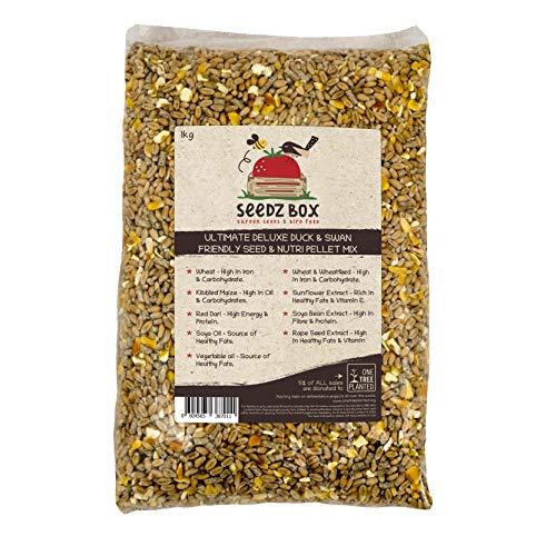 Ultimativer Luxus Ente, Gans und Schwan Samen & Nährstoff Vogelfutter, 1 kg Beutel, SeedzBox Duck & Swan Food