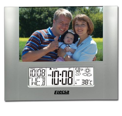 Photo Wetterstation Wecker Luftfeuchte Thermometer Modell ELECSA 6845