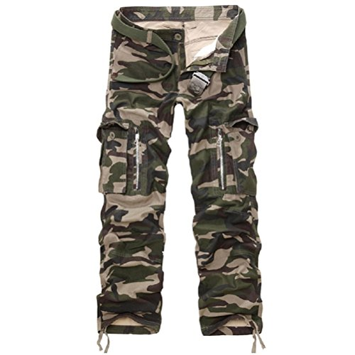 AYG Herren Cargo Hose Camouflage Trousers(army camo,38)