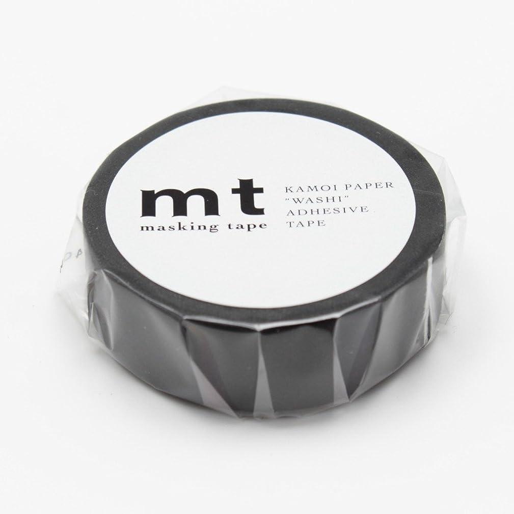 MT Solids Washi Paper Masking Tape,  15mm x 10m , Matte Black (MT01P207)