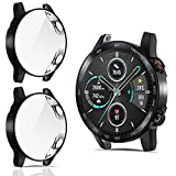 CAVN Protector de Pantalla Compatible con Honor Magic Watch 2 46mm, 2Pack Cobertura Completa TPU Funda Flexible Antiarañazos Funda Protectora Suave para Magic Watch 2 46mm