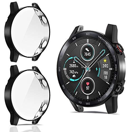 CAVN Protector de Pantalla Compatible con Honor Magic Watch 2 46mm, 2Pack Cobertura Completa TPU Funda Flexible Antiarañazos Funda Protectora Suave para Magic Watch 2 46mm