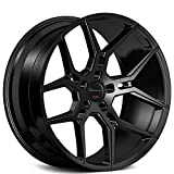 "x5 rims - 20 Inch Rims - Black Wheels - STAGGERED - Set of 4 Rims - Made for MAX Performance - Fits ALL Cars - Racing Wheels for Challenger, Mustang, Camaro, BMW, and More! (20x9"" x 20x10.5"") - Giovanna Haleb"