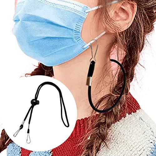 Wankting 1/2/5 piezas de cordón ajustable para la cara, práctico y de...