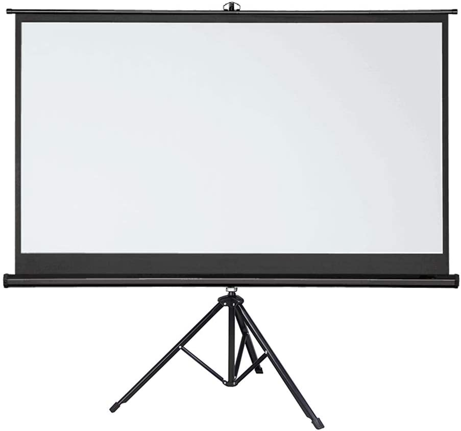 DSFEOIGY Projector Screen 72 100 Inches Tripod Stand 16:9 Portable Projection Screen 4K 3D Movies Screen for Home Office Indoor Outdoor (Size : 100 inch)