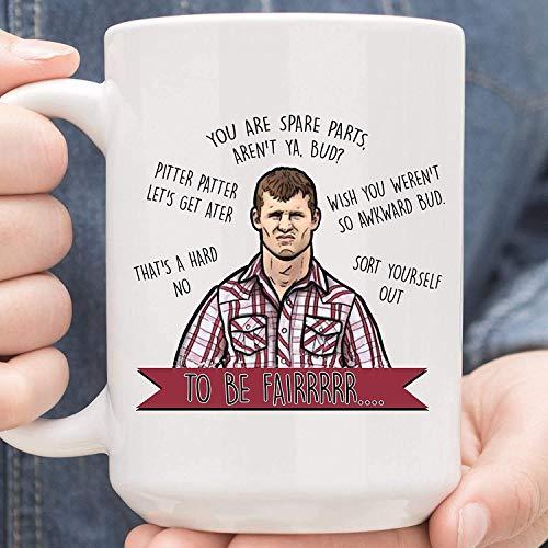 N\A Todo es diversión y Juegos hasta Que Alguien Quema su Taza de café Salchicha Tazas de té de cerámica de 11 oz MUGREEVA MUG