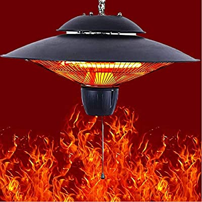 Outdoor Patio Electric Heater,750W / 1500W, Noiseless, Suitable for Large Room (Black)
