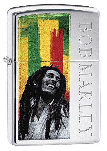 Zippo Bob Marley Lighter, Metal, Silver, One Size