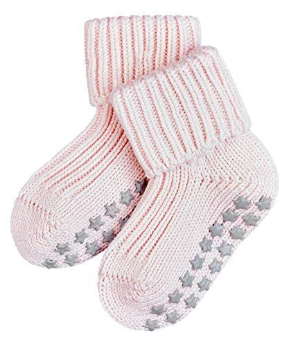 FALKE Unisex Baby Hausschuh-Socken Catspads Cotton, Baumwolle, 1 Paar, Rosa (Powder Rose 8900), 1-6 Monate (62-68cm)
