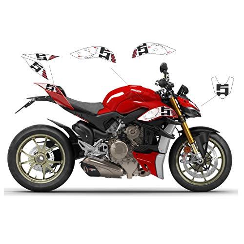 Vulturbike Aufkleber-Set Route Pikes Peak - Ducati Streetfighter V4 / V4S