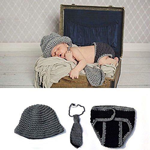 Baby-Outfit für Neugeborene, gehäkelt, ideal als Foto-Requisite, für Jungen und Mädchen geeignet (Kleiner Krawattenmann)