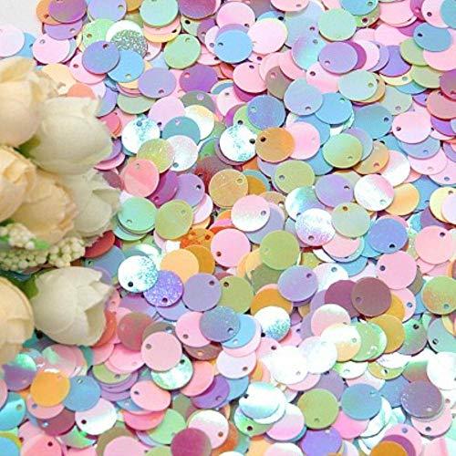 6mm 10mm 20mm Glitter Pailletten Platte Ronde PVC Pailletten met Flash Poeder Voor Craft lentejuelas para manualidades 20g, ab mix, 10mm 20g