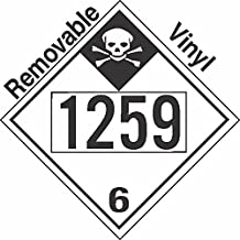 GC Labels-P335c1259, Inhalation Hazard Class 6.1 UN1259 Removable Vinyl DOT Placard, Package of 50 Placards