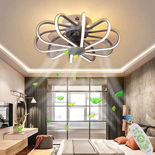 JAKROO Led Moderna Lámpara del Ventilador, Ventilador De Techo con Luz Led, Velocidad del Viento Ajustable, Control Remoto Regulable, para Sala De Estar, Dormitorio, Habitación Infantil