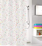 Kleine Wolke Confetti Duschvorhang, PEVA, Clear, 180x200 cm