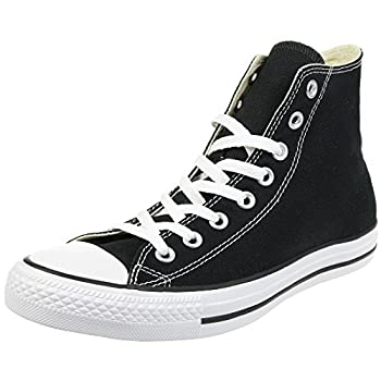 Converse Clothing & Apparel Chuck Taylor All Star Canvas High Top Sneaker Black/White 12 Women/10 Men