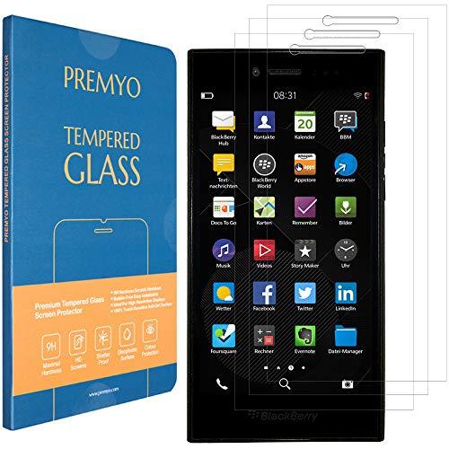 PREMYO 3 Stück Panzerglas Schutzglas Bildschirmschutzfolie Folie kompatibel für BlackBerry Leap Blasenfrei HD-Klar 9H 2,5D Gegen Kratzer Fingerabdrücke