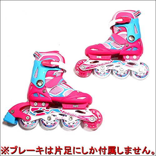 COUGAR(クーガー)ジュニア用インラインピンク×ブルーキッズ子供用L(23.0-25.5cm)