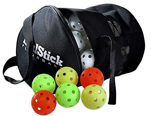 Realstick Floorball Unihockey Ball 50er Team Set mit Ballsack Color Mix | Wettkampfball Trainingsball mit IFF Zertifikat für geprüfte Qualität