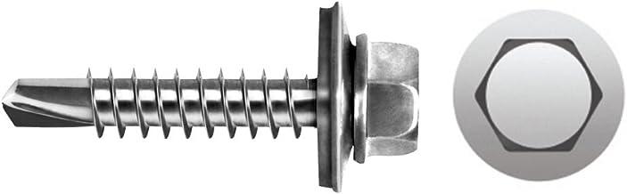 Celo 94819730116 – schroefdraadstift, DIN 7301 zeskantkop, diameter 4,8 x 19 mm, sluitring van Epdm, diameter 16, verzink...