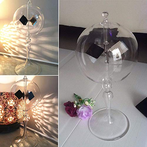 MJJEsports Radiometer Sphere Glas Licht Molen Zonne-energie Thuis Office Decoratie Gift