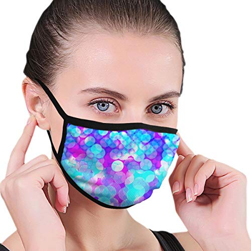 Unisex Masks Glowing Colorful Backgroun 6.8' X 4.7' Face Mouth Mask...