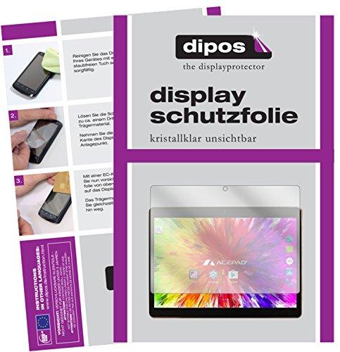 dipos I 2X Schutzfolie klar kompatibel mit Acepad A121 Folie Displayschutzfolie