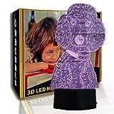 KangYD Lámpara de ilusión 3D Poodle Dog, luz nocturna LED visual, regalo para niños, A - Touch negra Base (7 colores), LED táctil, Lámpara de ambiente, Lámpara de ilusión óptica