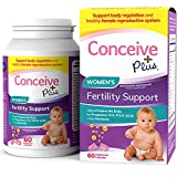 Conceive Plus Women's Fertility Prenatal Vitamins + Key Nutrients – Support Body Regulation, Healthy Cycles, Aid Natural Conception – Folate Folic Acid, Pills – 60 Vegetarian Soft Capsules