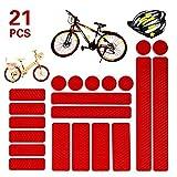 21 piezas Adhesivos reflectantes para moto,Kit de pegatinas reflectantes Pegatinas Reflectantes de Motocicleta para silla de ruedas de bicicleta cochecito de casco