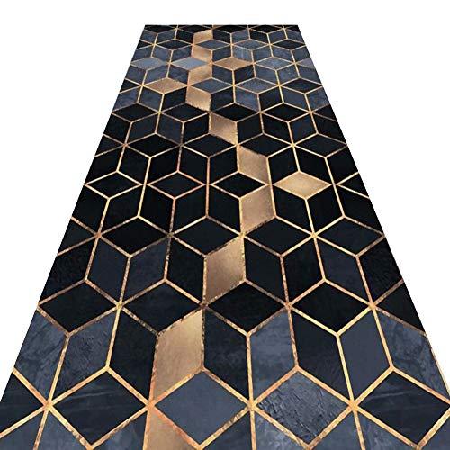 YANZHEN-tapis Couloir Passage Tissu Mélangé Lavable À La Machine avec Un Motif 3D Antidérapant pour Tapis De Couloir, 7 Mm D'épaisseur, Plusieurs Tailles (Couleur : A, Taille : 1 x 2m)