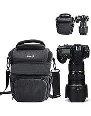一眼レフ カメラバッグ Zecti 収納スペースを拡張可能 防水カバー付き カメラバッグ ショルダー カメラケース カメラバック Nikon Canon Sony pentax ゴープロなどに対応