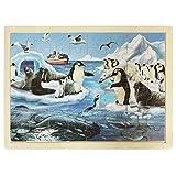Animales Polares - Puzzle moldura - Juguetes de madera educativos de Classictoys