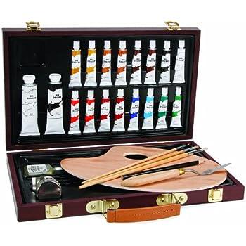 Darice Studio 71, 27 Piece Oil Painting Art Set, Wood Box