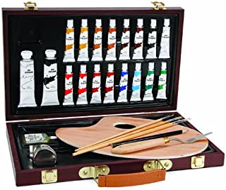 Darice 1103-082 Studio 71, 27 Piece Oil Painting Art Set, Wood Box