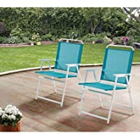 Mainstays Pleasant Grove Sling Folding 2-Set Chair (Aqua)