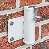 Videx-Sonnenschirmhalter für die Wand, weiß, Ø 35mm