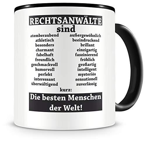 Samunshi® Rechtsanwälte sind Tasse Beruf Geschenk Kaffeetasse Teetasse Kaffeepott Kaffeebecher Becher (Rechtsanwälte sind. 300ml schwarz/schwarz)