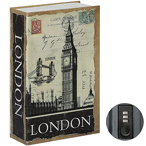Jssmst Diversion Book Safe with Combination Lock, Secrect Hidden Safe Lock Box for Home Office Code...